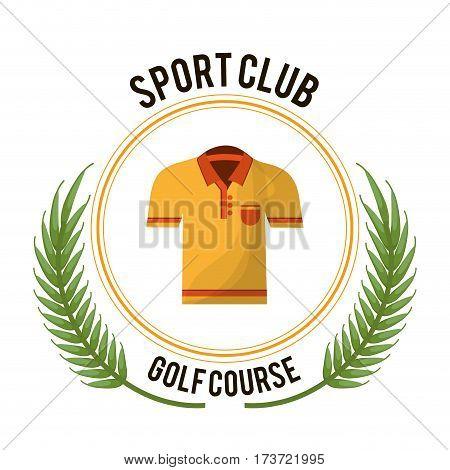sport club golf course tshirt vector ilustration eps 10