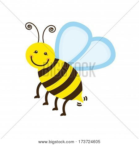 colorful bee icon stock, vector illustration design image