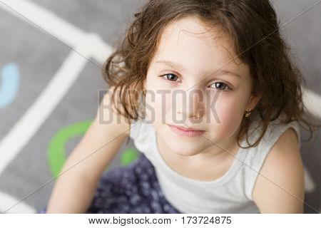Girl with washed hair