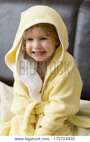 Little girl and bathing