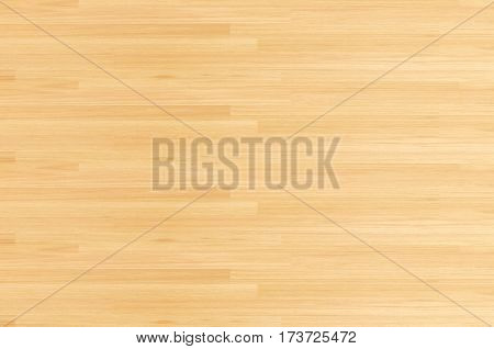 Hardwood maple basketball court floor viewed from above.Natural hardwood maple texture pattern and background