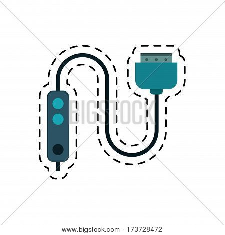 cartoon computer cable connection plug vector illustration eps 10