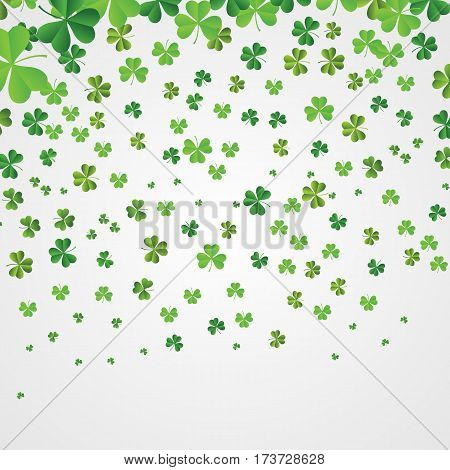 Saint Patrick's Day Background shamrocks simple flat vector.