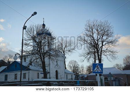 Synkovichi BELARUS - February 26 2017. Zhyrovichy Monastery Orthodoxy the historic monument
