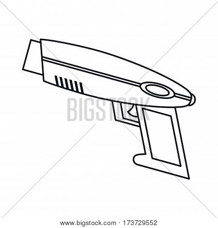 weapon virtual reality game thin line vector illustration eps 10