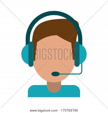 video gamer with headset vector illustration eps 10