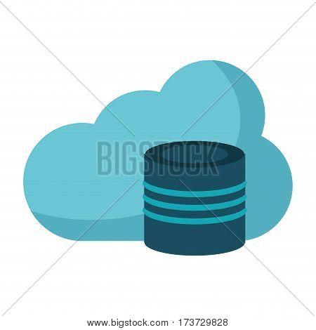 cloud data base technology vector illustration eps 10