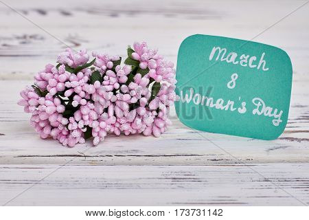 Tiny bunch of flowers. March 8th and Women's day.