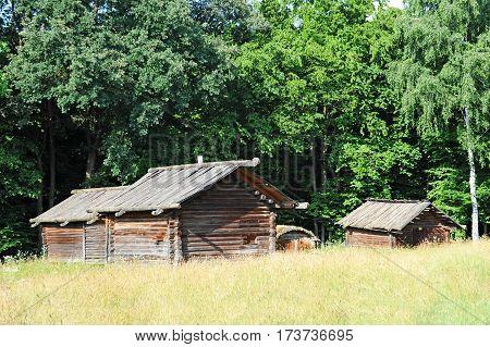 Ancient Wooden Barn