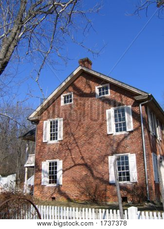 Brick House With Shadows