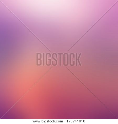 Abstract violet purple rose blur color gradient background for web, presentations and prints. Vector illustration.