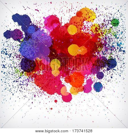 Holi colorful abstract background. Ethnicity graphic paint powder festival paint.