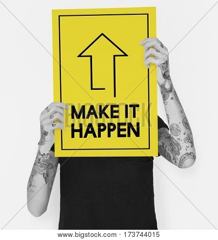 Make It Happen Positivity Attitude Possible Graphic Words