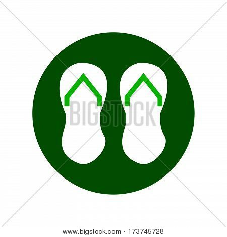 simple flat colour disposable slippers icon vector