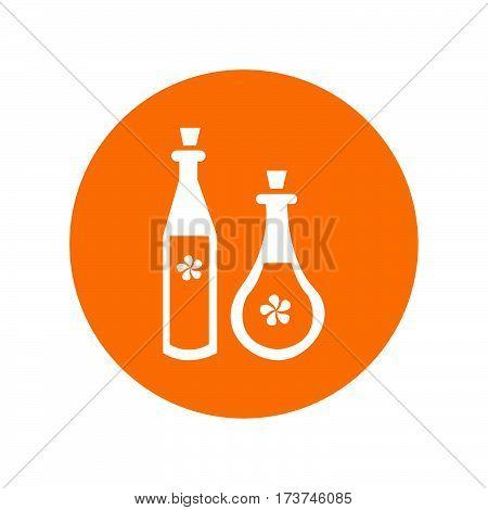 simple flat colour potion bottle icon vector
