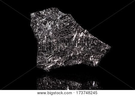 Silicon Stone, Chemical Element, Black Background
