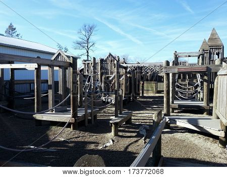 children's playground clear blue sky Pandora, Ohio