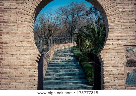 Moorish  key way entrance way in Toledo Spain