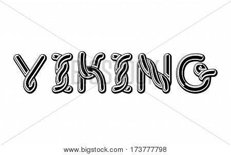 Viking Logo Lettering Celtic Font. Norse Medieval Ornament Abc. Traditional Ancient Manuscripts Alph