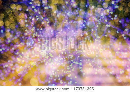 Defocused Colorful Light Bokeh Abstract