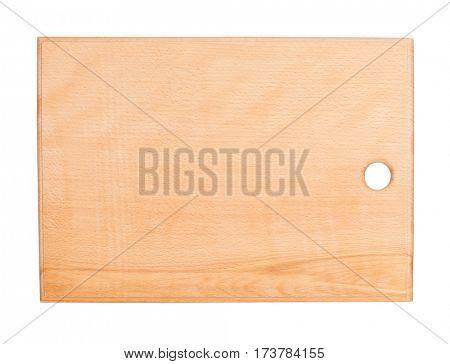 Empty wooden hardboard isolated on white background