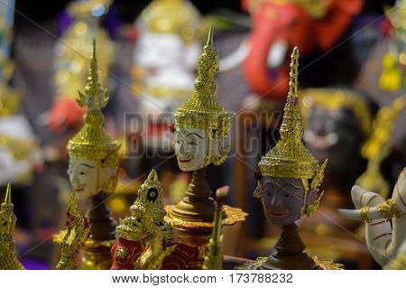 small actor's mask art of thailand background