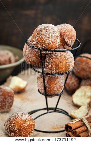 Fresh Delicious Homemade Ball Doughnuts