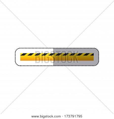 sticker striped hazard tape line construction design vector illustration