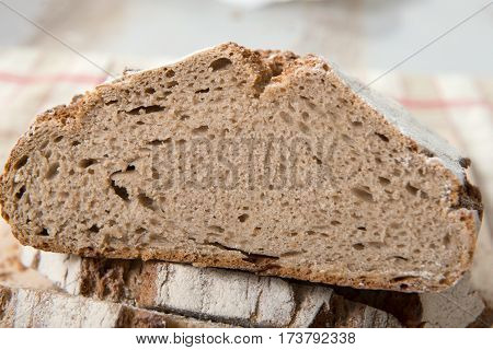 a close up of the traditional bread