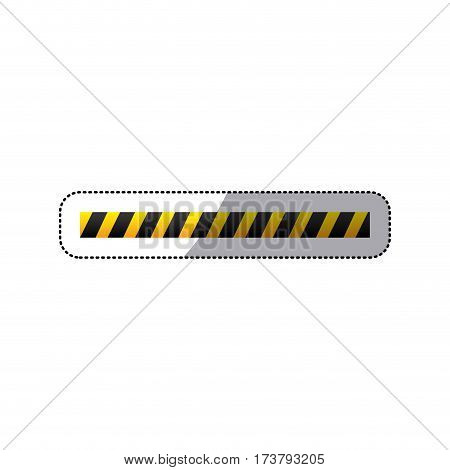 sticker barricade icon line construction design vector illustration