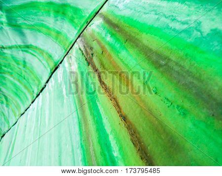 geometric bending aluminum coating of green color