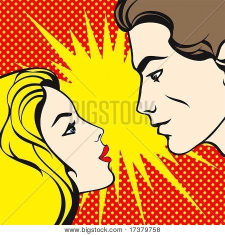 comics style couple