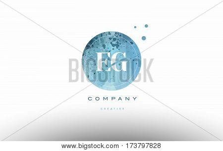 Eg E G  Watercolor Grunge Vintage Alphabet Letter Logo