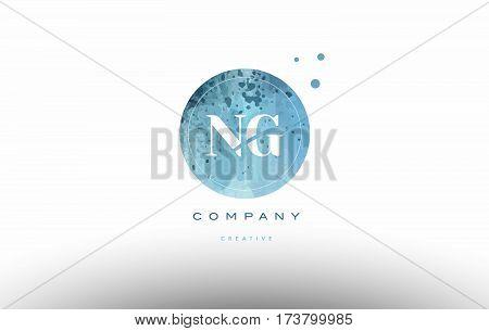 Ng N G  Watercolor Grunge Vintage Alphabet Letter Logo