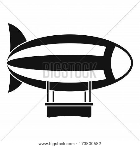Striped dirigible icon. Simple illustration of striped dirigible vector icon for web