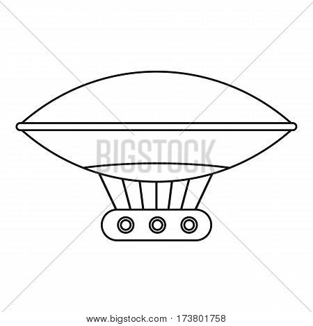 Vintage helium air balloon icon. Outline illustration of vintage helium air balloon vector icon for web