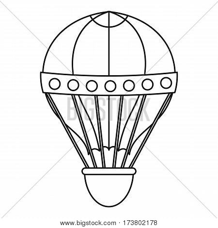 Old fashioned helium balloon icon. Outline illustration of old fashioned helium balloon vector icon for web