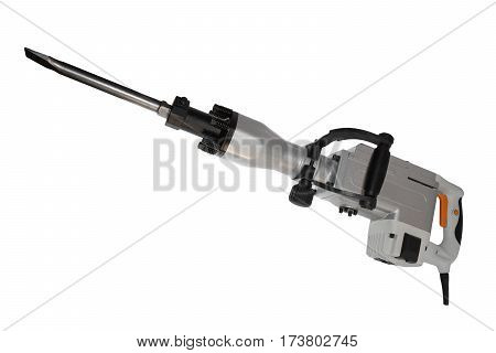 Electric jackhammer isolated on a white background
