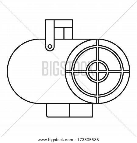 Heat gun icon. Outline illustration of heat gun vector icon for web