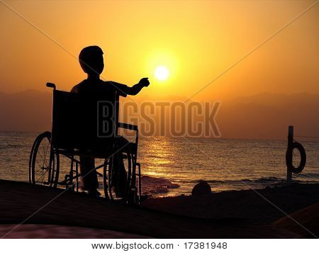 The invalid on a background of the sky