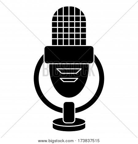 retro microphone voice icon pictogram vector illustration eps 10