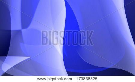 Cold Blue Bendy Shapes Background