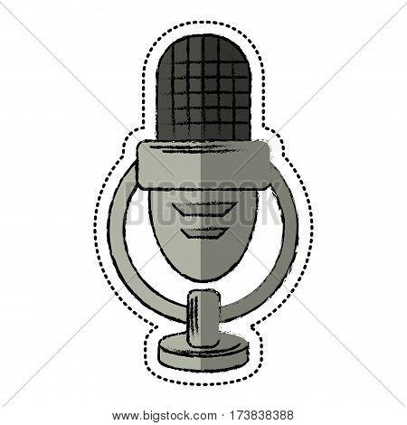 cartoon retro microphone voice vector illustration eps 10