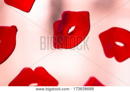 Red Lips Lipstick Abstract