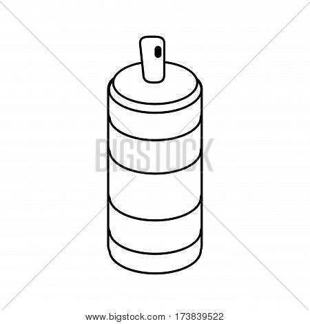 spray can container thin line vector illustration eps 10