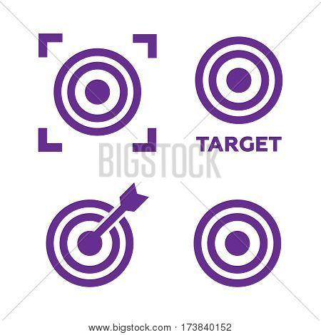 Target icons set vector illustration. Target black logo. Target vector