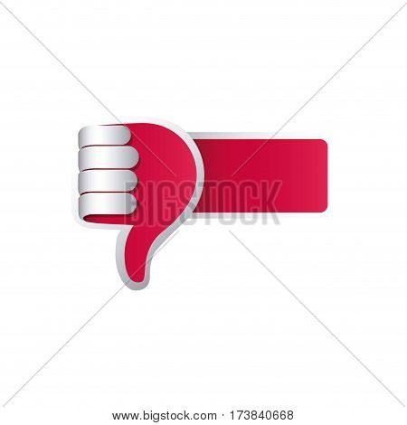 color 3d arm with hand with signal disappointed vector illustration