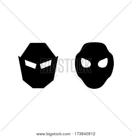 Set of vector super hero masks. Hero vector