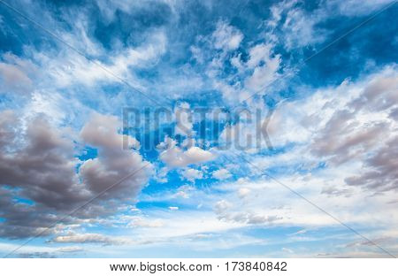 Highly detailed image of dramatic cloudy sky