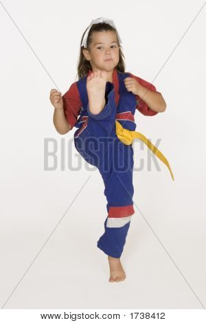Model Release #286 Four year old practicing Martial Arts poster